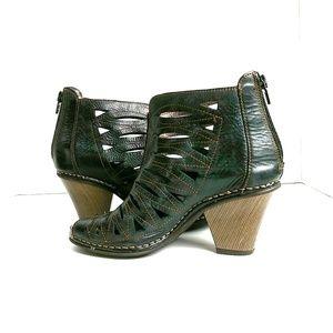 Jose Saenz Shoes - Jose Saenz Cut Out Peep Toe Booties Size 36
